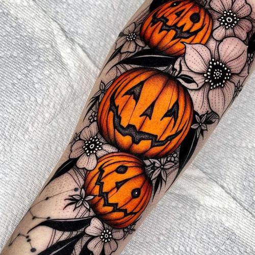 Pumpkin Tattoo Design