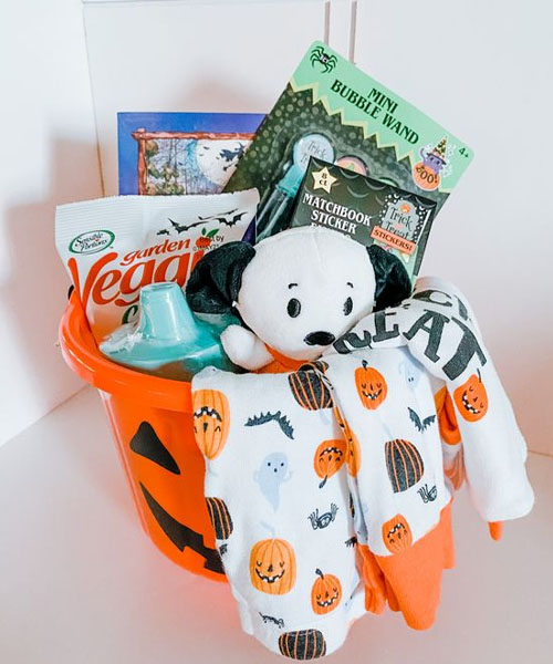 Pup boo basket for kids
