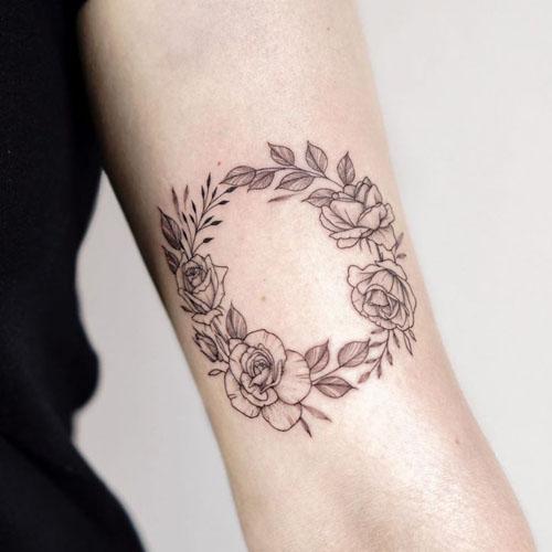 Simple Arm Wreath Tattoo
