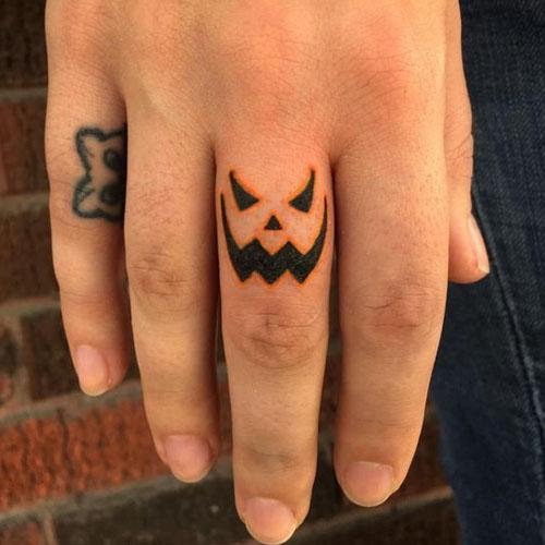 Small Creepy Pumpkin Tattoos