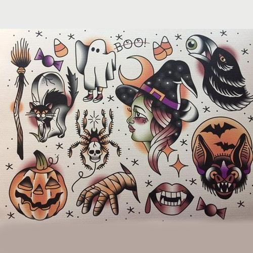 Spooky Flash Tattoo Designs