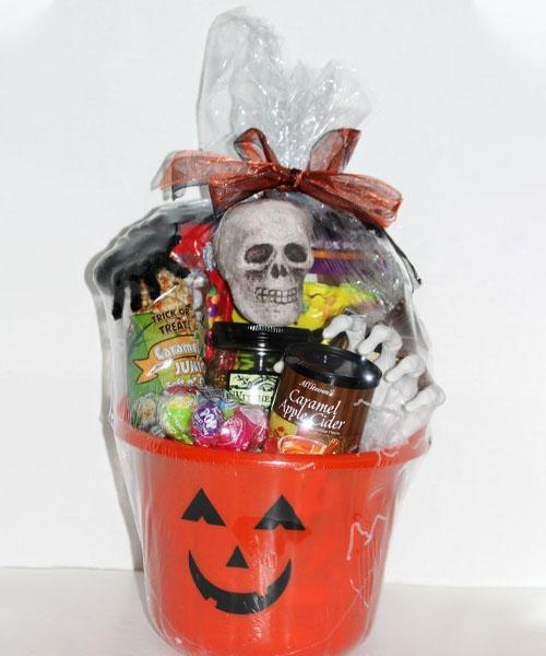 Spooky basket with tasty treats