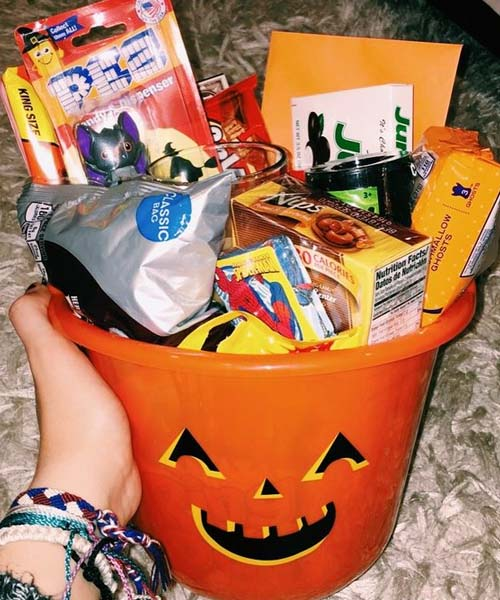Sugar spice and everything nice spooky basket idea