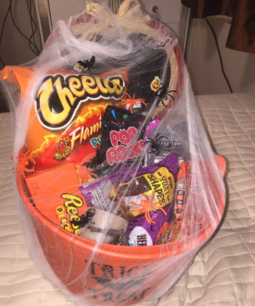 The Boo Basket of snacks