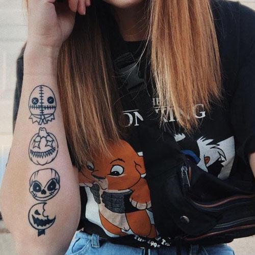 The Creepy Trick-Or-Treat Tattoo