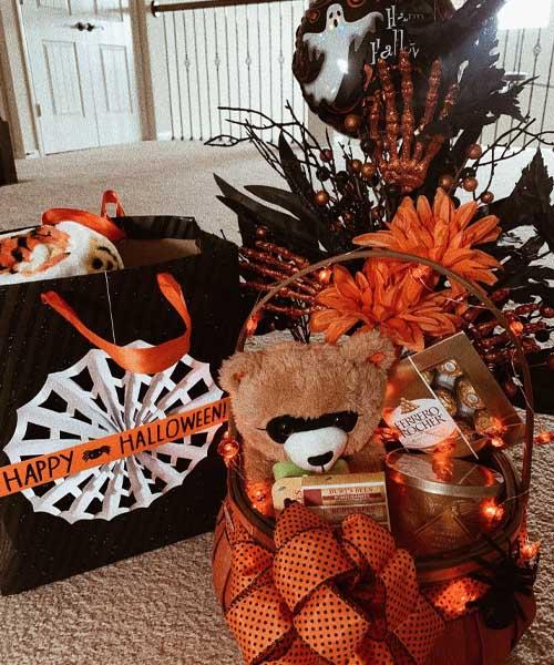 The Orange Love Spooky Basket