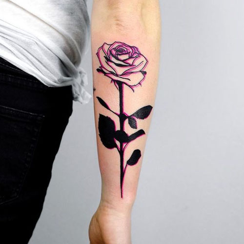 The Upside Down Black Rose