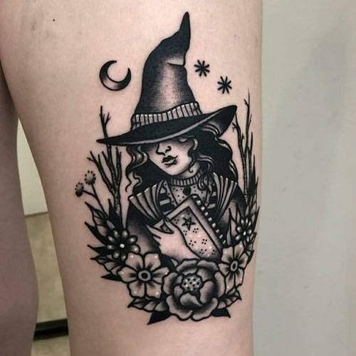 The Witch Carrying Magic Book