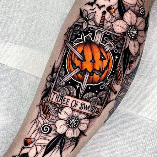 Three of Swords In Pumpkin