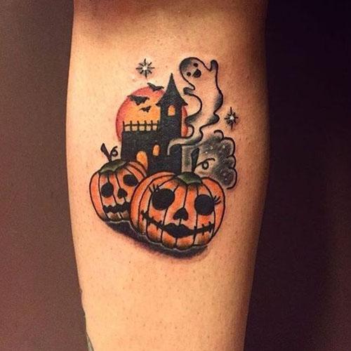 Traditional Pumpkin Tattoo