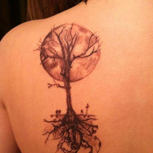 Tree Beyond Moon