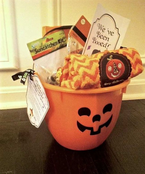 You have been booed spooky basket idea for mom